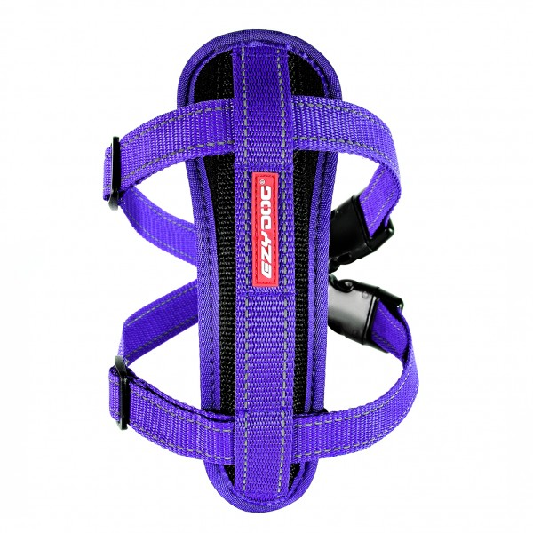 EzyDog Chest Plate Geschirr (incl.Autogurt) - purple
