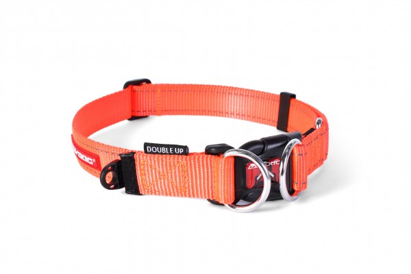 EzyDog Double Up Halsband - orange