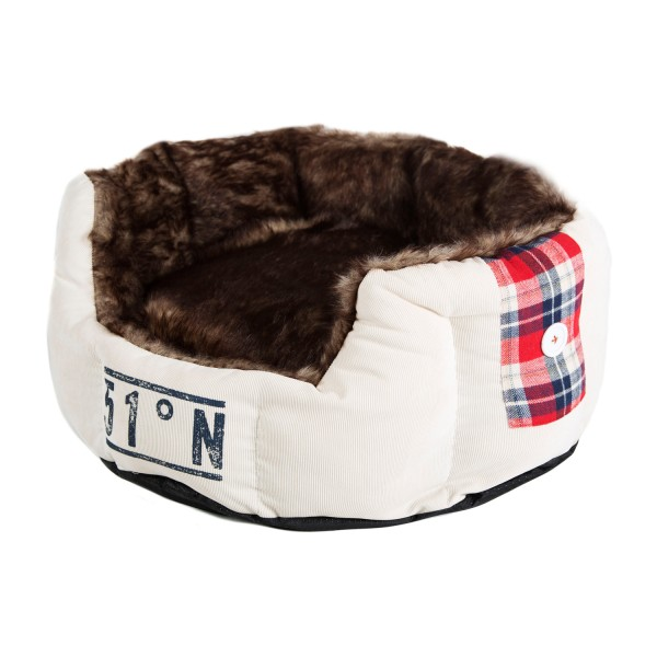 Surplus 51 Lumberpet Soft Bed - cremeweiß
