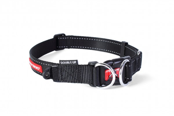 EzyDog Double Up Halsband - schwarz