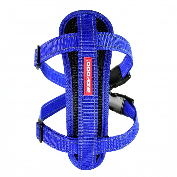 EzyDog Chest Plate Geschirr (incl.Autogurt) - blau