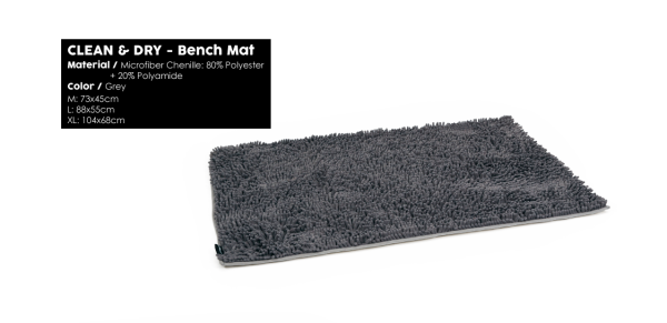 51DN Clean & Dry Bench Mat Grey