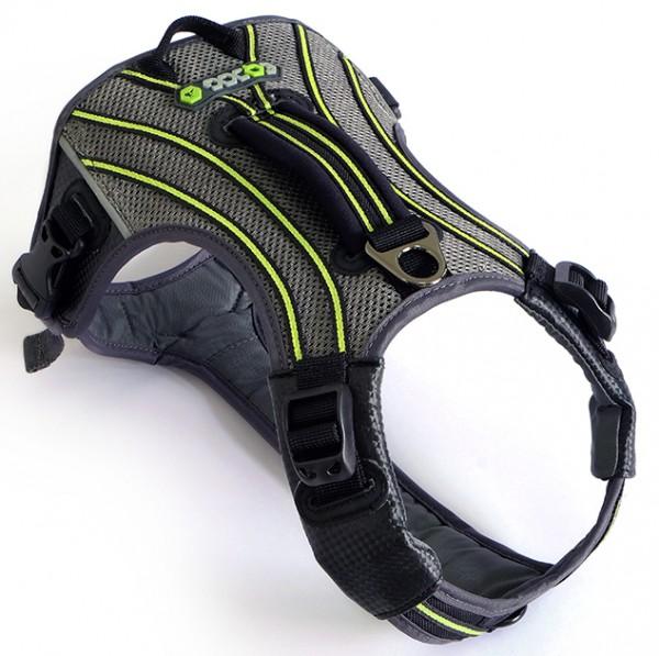 EQDOG Pro Harness Hundegeschirr - schwarz / grün