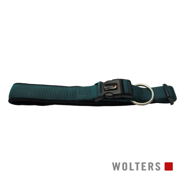 Wolters Hundehalsband Professional Comfort -petrol/ schwarz-