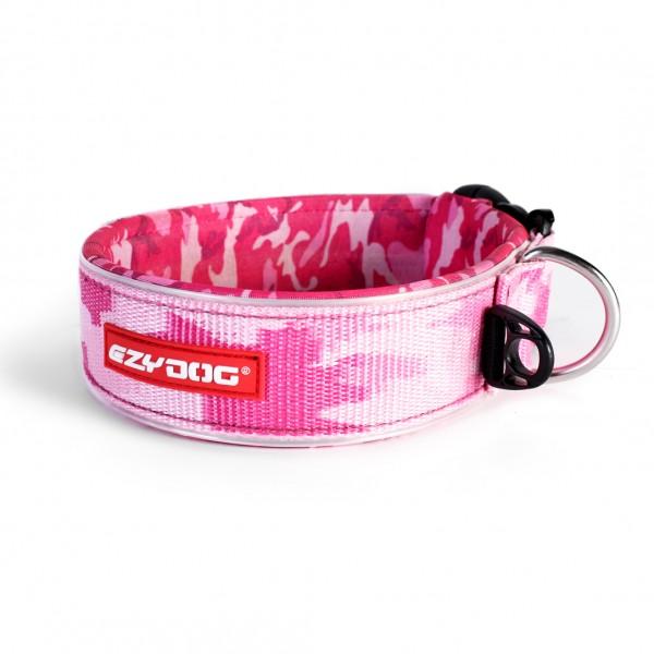 EzyDog Neo Wide Hundehalsband Extrabreit - pink camo