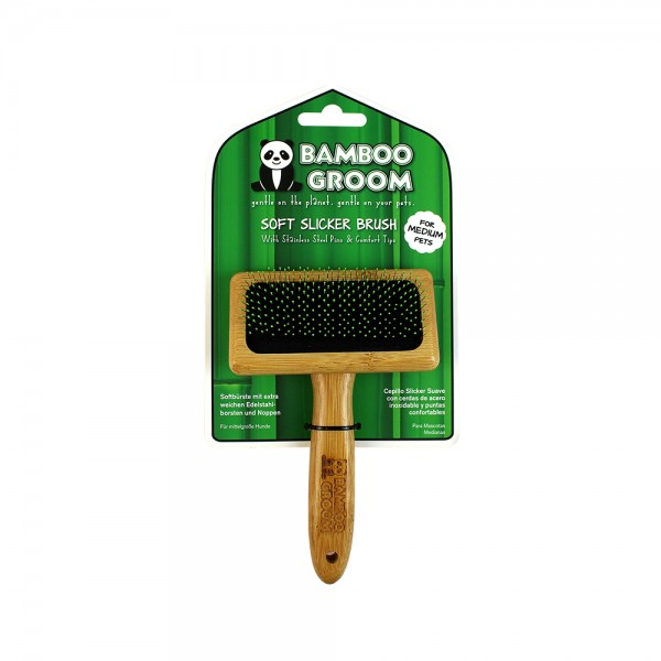 Bamboo Groom Soft Slicker / Soft Zupfbürste