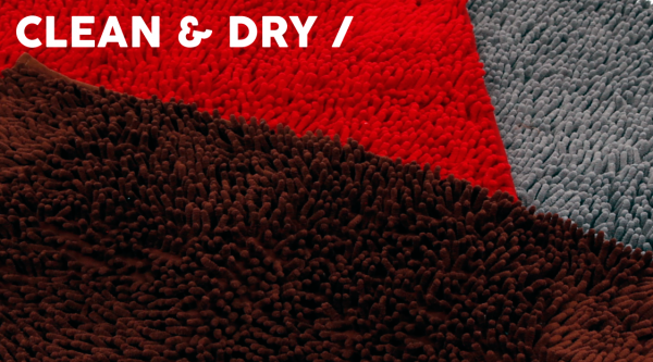 51DN Clean & Dry Bench Mat Dark Red
