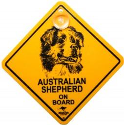 Australian Shepherd Autoschild mit Saugnapf