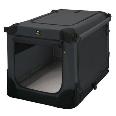 Maelson Soft Kennel Faltbare Hundebox Anthrazit