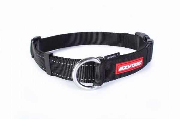 EzyDog Checkmate Halsband - schwarz