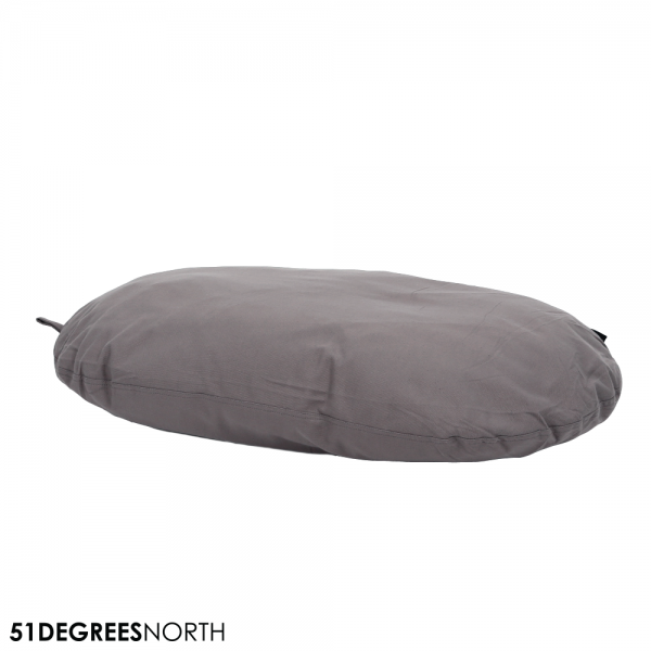 51DN Cotton Hundekissen Oval - Light Grey