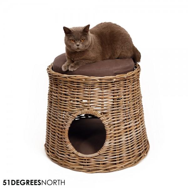 51DN Rattan Damar Katzenhöhle inkl. Kissen