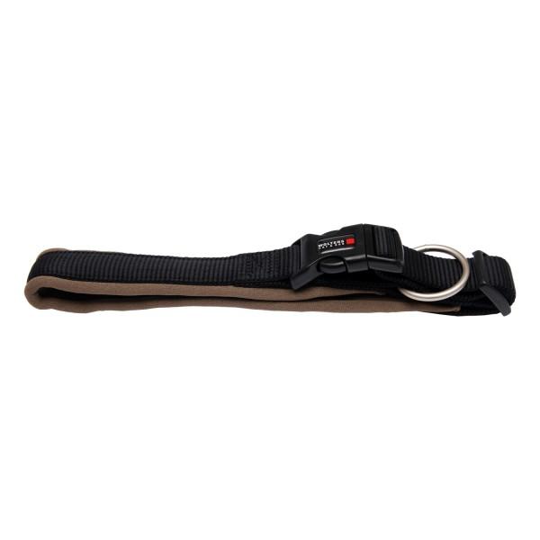 Wolters Hundehalsband Professional Comfort -schwarz / braun-
