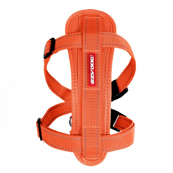 EzyDog Chest Plate Geschirr (incl.Autogurt) - orange