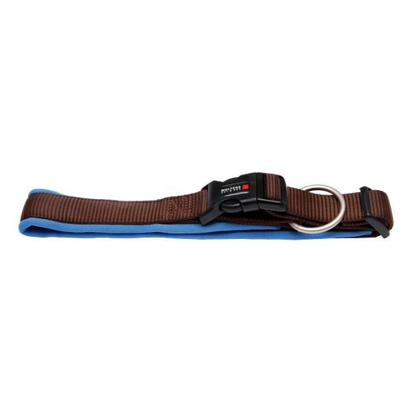 Wolters Hundehalsband Professional Comfort -tabac / hellblau-