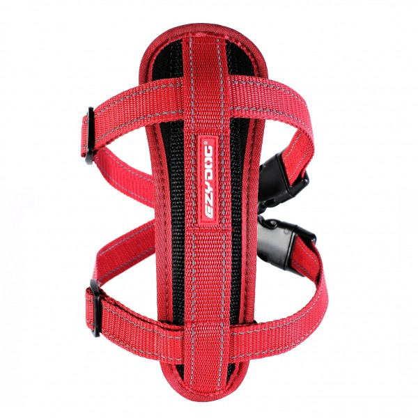 EzyDog Chest Plate Geschirr (incl.Autogurt) - rot